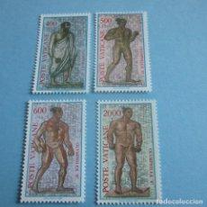 Sellos: VATICANO 1987, Nº 811/14** , ARQUEOLOGIA - MOSAICOS DE LAS TERMAS DE CARACALLA, ROMA. Lote 102364399