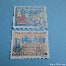 Sellos: VATICANO 1987, Nº 815/16** , INAUGURACIÓN DEL MUSEO FILATÉLICO Y NUMISMÁTICO DEL VATICANO. Lote 102364675
