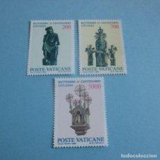 Sellos: VATICANO 1987, Nº 806/08 ,6º CENT. DEL BAUTISMO DE LITUANIA . Lote 102364887