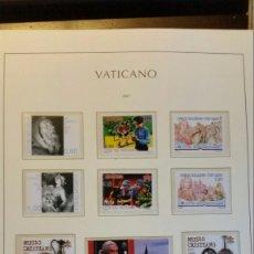 Sellos: VATICANO AÑO COMPLETO 2007 MONTADO EN HOJAS LEUCHTTURM. Lote 104497611