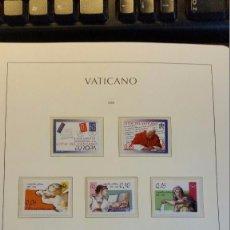 Sellos: VATICANO AÑO COMPLETO 2008 MONTADO EN HOJAS LEUCHTTURM. Lote 104497943