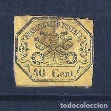 Sellos: ESTADOS PONTIFICIOS 1867. ESCUDO NO DENTADO. Lote 109889439