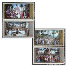 Sellos: VATICANO - FRESCOS DE LA CAPILLA SIXTINA (2002) **. Lote 115411639