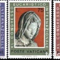 Sellos: VATICANO - Nº552/554 - AÑO 1973 - XL CONGRESO EUCARISTICO INTERNACIONAL. MELBOURNE, AUSTRA - NUEVOS. Lote 117343027