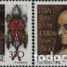 Sellos: VATICANO - Nº651/652 - AÑO 1978 - LXXX ANIVERSARIO DEL NACIMIENTO DEL PAPA PABLO VI - NUEVOS. Lote 117352947