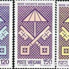 Sellos: VATICANO - Nº656/658 - AÑO 1978 - SEDE VACANATE - NUEVOS. Lote 117354027