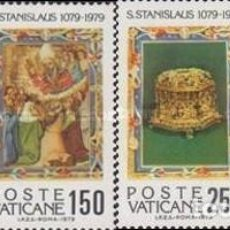 Sellos: VATICANO - Nº669/672 - AÑO 1979 - IX CENTENARIO DEL MARTIRIO DE SAN ESTANISLAO DE POLONIA - NUEVOS. Lote 117354687