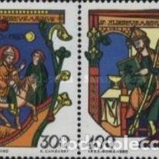 Sellos: VATICANO - Nº698/699 - AÑO 1980 - 7º CENTENARIO DE LA MUERTE DE SAN ALBERTO EL GRANDE - NUEVOS. Lote 117512503