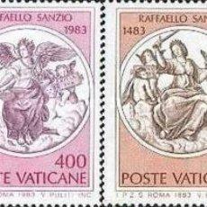 Sellos: VATICANO - Nº743/746 - AÑO 1983 - Vº CENTENARIO DEL NACIMIENTO DE RAFAEL - NUEVOS. Lote 117549851