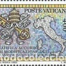 Sellos: VATICANO - Nº783 - AÑO 1985 - RATIFICACION DEL ACUERDO DEL TRATADO CON ITALIA - NUEVOS. Lote 117652387