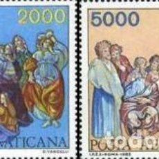 Sellos: VATICANO - Nº73/74 - AÑO 1983 - AÑO INTERNACIONAL DE LAS COMUNICACIONES - AEREOS - NUEVOS. Lote 118388647