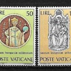 Sellos: VATICANO 1971 MILLENIUM OF THE BIRTH OF ST. STEPHEN MNH - 5/10. Lote 125222263