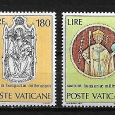 Sellos: VATICANO 1971 MILLENIUM OF THE BIRTH OF ST. STEPHEN MNH - 5/10. Lote 125222299