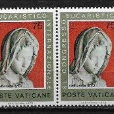 Sellos: VATICANO 1973 40TH INTL. EUCHARISTIC CONGRESS, MELBOURNE MNH - - 5/6. Lote 125226499