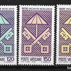 Sellos: VATICANO VATICAN CITY 1978 KEYS OF ST. PETER AND PAPAL CHAMBERLAIN'S MNH - 5/4. Lote 125227031