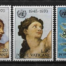 Sellos: VATICANO 1970 25TH ANNIVERSARY OF THE UNITED NATIONS. MNH - 5/1. Lote 125236459
