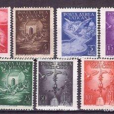 Sellos: VATICANO 1947 AEREO IVERT 9/15 *** SERIE BÁSICA - VARIOS TIPOS. Lote 136486742