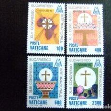 Sellos: VATICANE VATICANO 1985 - 43 CONGRÈS EUCHARISTIQUE À NAIROBI YVERT 779 / 82 ** MNH. Lote 137146142