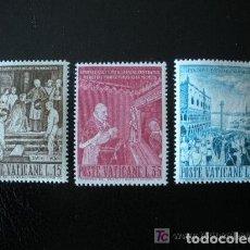 Sellos: VATICANO 1960 IVERT 299/301 *** ENTIERRO DEL PAPA PIO X. Lote 139077786