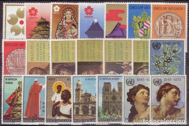VATICANO 1970 IVERT 497/517 *** AÑO COMPLETO (Sellos - Extranjero - Europa - Vaticano)