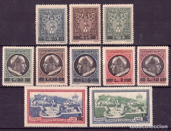 VATICANO 1946 IVERT 120/27 Y EXPRESS 7/8 * SERIE BÁSICA - PAPA PIO XII (Sellos - Extranjero - Europa - Vaticano)