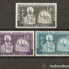 Sellos: VATICANO 1955 IVERT 210/12 *** 12º CENTENARIO DE LA MUERTE DE SAN BONIFACIO. Lote 148171326