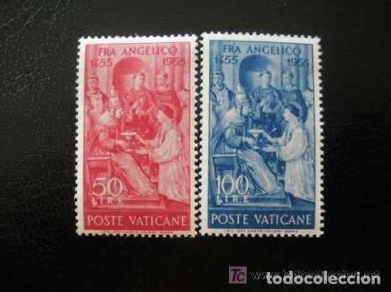 VATICANO 1955 IVERT 213/14 *** 5º CENTENARIO DE LA MUERTE DE FRAY ANGELICO (Sellos - Extranjero - Europa - Vaticano)