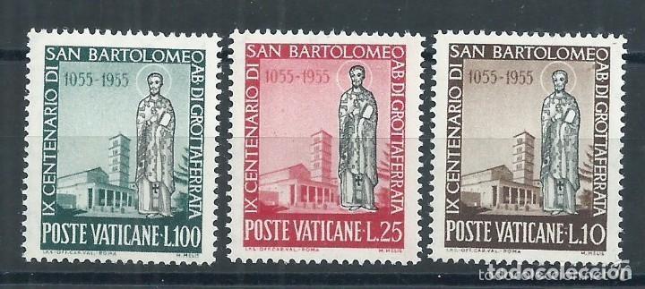 VATICANO 1955 IVERT 218/20 *** 9º CENTENARIO DE LA MUERTE DE SAN BARTOLOME (Sellos - Extranjero - Europa - Vaticano)