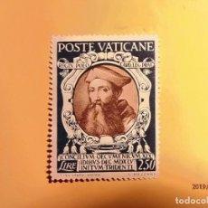 Sellos: VATICANO - XIX CONCILIO ECUMENICO DE TRENTO - CARDENAL REGINALDO POLE. Lote 148254490