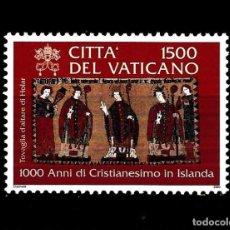 Sellos: VATICANO 2000 IVERT 1195 *** MILENARIO DEL CRISTIANISMO EN ISLANDIA. Lote 148293166