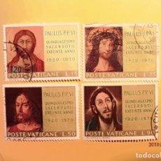 Sellos: VATICANO 1970 - CRISTO - 50º ANIV. ORDENACION SACERDOTAL DE PABLO VI - EL GRECO - DURERO.. Lote 150618486
