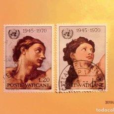Sellos: VATICANO 1970 - CAPILLA SIXTINA - MIGUEL ANGEL - MICHELANGELO.BUONARROTI.. Lote 150649342