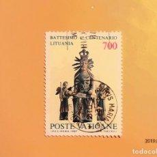 Sellos: VATICANO 1987 - 6º CENT. BAUTISMO DE LITUANIA.. Lote 150649758