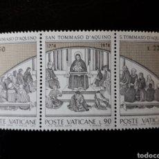 Sellos: VATICANO. YVERT 576/8 SERIE COMPLETA NUEVA SIN CHARNELA. SANTO TOMÁS DE AQUINO. EDUCACIÓN. Lote 151056305