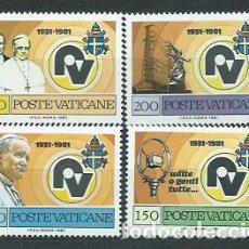 Sellos: VATICANO - CORREO 1981 YVERT 702/5 ** MNH RADIO VATICANO. Lote 153353880