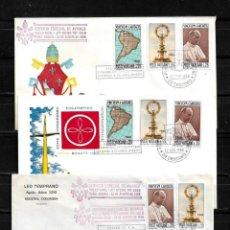 Sellos: VATICANO 1968 LOTE DE 3 SOBRES PRIMER DIA DEL VIAJE DEL PAPA PABLO VI A COLOMBIA. Lote 160982526