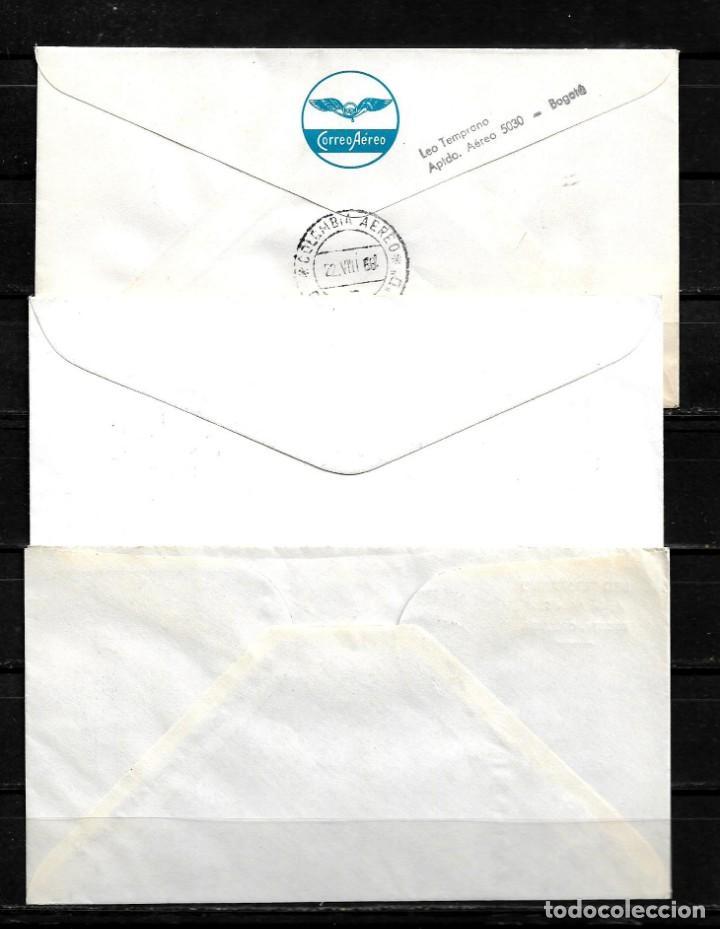 Sellos: Vaticano 1968 lote de 3 sobres primer dia del viaje del papa Pablo VI a Colombia - Foto 2 - 160982526