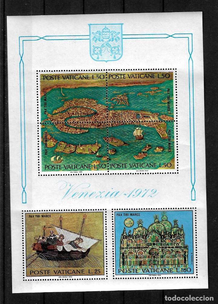 VATICANO 1972 HOJA BLOQUE SALVAD VENECIA UNESCO (Sellos - Extranjero - Europa - Vaticano)