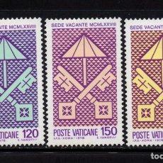 Timbres: VATICANO 656/58** - AÑO 1978 - SEDE VACANTE. Lote 162756750