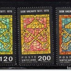 Timbres: VATICANO 659/61** - AÑO 1978 - SEDE VACANTE. Lote 196017082