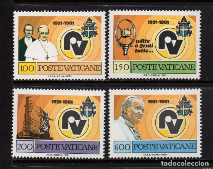 VATICANO 702/05** - AÑO 1981 - 50º ANIVERSARIO DE RADIO VATICANO (Sellos - Extranjero - Europa - Vaticano)