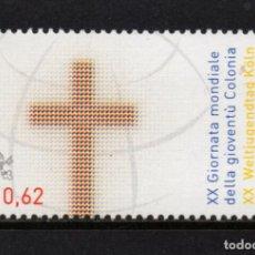 Sellos: VATICANO 1377** - AÑO 2005 - DIA MUNDIAL DE LA JUVENTUD. Lote 278431153