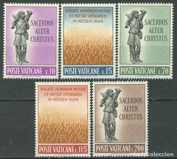 VATICANO 1962 IVERT 348/52 *** VOCACIONES SACERDOTALES - EL BUEN PASTOR (Sellos - Extranjero - Europa - Vaticano)