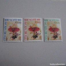 Sellos: VATICANO 2005, YVERT Nº 1374/76**, SEDE VACANTE.. Lote 164930874