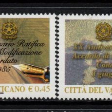 Timbres: VATICANO 1368/69** - AÑO 2005 - 20º ANIVERSARIO ENTRE LA SANTA SEDE E ITALIA. Lote 165085890