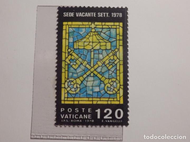 Sellos: LOTE - COLECCIÓN - EL VATICANO - 15 SELLOS NUEVOS - 1979, 1980, 1982 - EN FILOESTUCHES Y HOJA FILABO - Foto 10 - 165086378