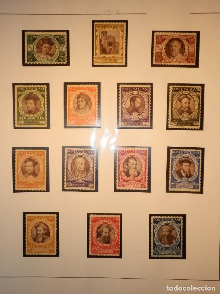 LOTE - COLECCIÓN - EL VATICANO - 14 SELLOS NUEVOS - 1946 - EN FILOESTUCHES Y HOJA FILABO (Sellos - Extranjero - Europa - Vaticano)