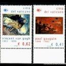 Sellos: VATICANO 2003 IVERT 1316/17 *** CENTENARIO MUERTE PINTOR P. GAUGUIN Y 150º ANIVERSARIO V. VAN GOGH. Lote 167110500