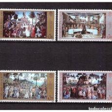 Sellos: VATICANO 2002 IVERT 1266/9 *** RESTAURACIÓN DE LA CAPILLA SIXTINA (III) - PINTURAS DEL SIGLO XV. Lote 167118016