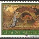 Sellos: VATICANO 2002 IVERT 1282 *** NAVIDAD - LA NATIVIDAD DE AMBROGIO BALDESE - PINTURA. Lote 167227696